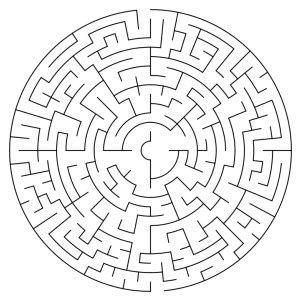 circular maze puzzle