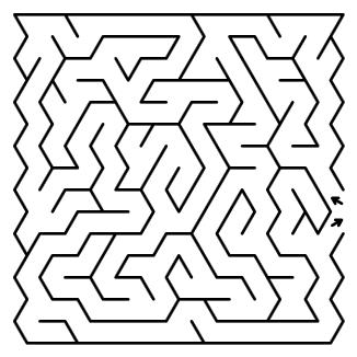 orthogonal maze puzzle