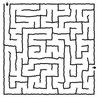 random fuzzy maze puzzle