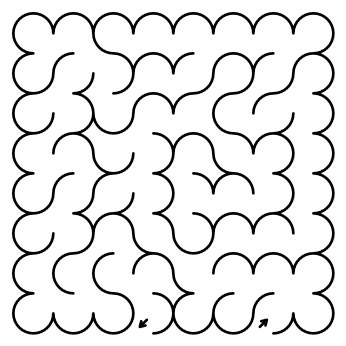rhombic maze puzzle