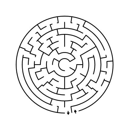 circular theta maze puzzle