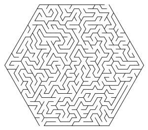 hexagonal maze puzzle