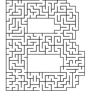 B shaped maze puzzle