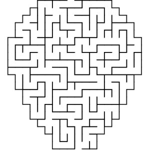 Balloon shaped maze puzzle