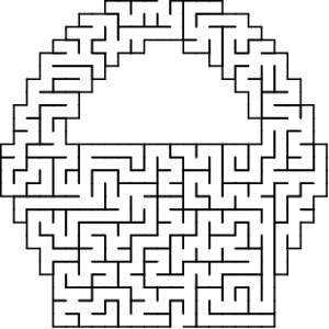 Basket shaped maze puzzle