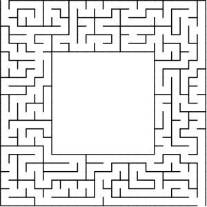Box shaped maze puzzle