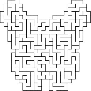 Butterfly shaped maze puzzle