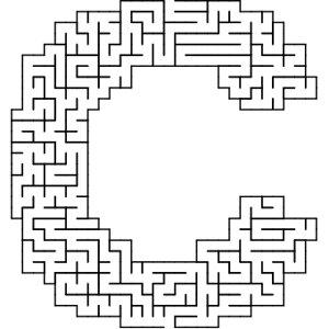 C shaped maze puzzle
