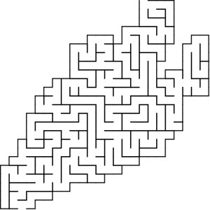 Carrot shaped maze puzzle