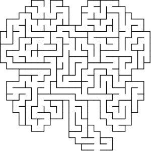 Clover shaped maze puzzle