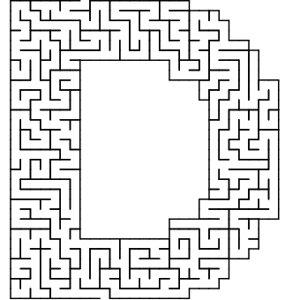 D shaped maze puzzle