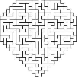 Diamond-1 shaped maze puzzle