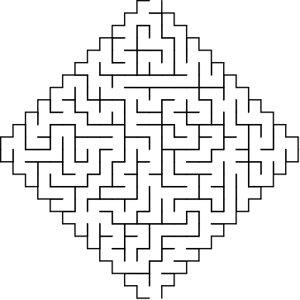 Diamond shaped maze puzzle
