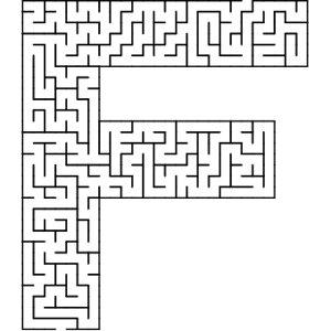 F shaped maze puzzle