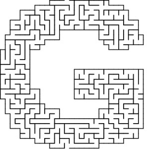 G shaped maze puzzle