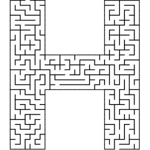 H shaped maze puzzle