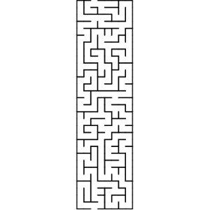 I shaped maze puzzle