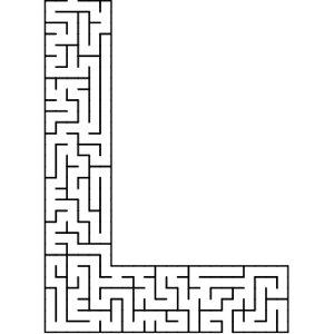 L shaped maze puzzle