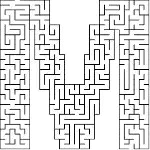 M shaped maze puzzle