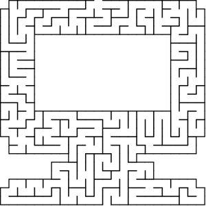 Monitor shaped maze puzzle