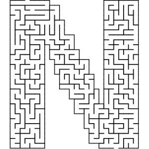 N shaped maze puzzle