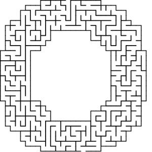 O shaped maze puzzle