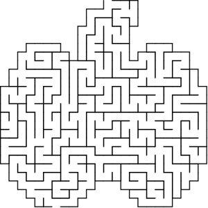 Pumpkin shaped maze puzzle