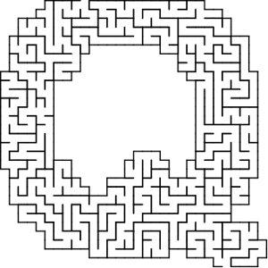 Q shaped maze puzzle