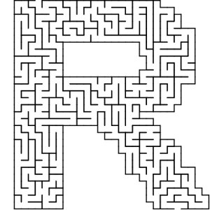 R shaped maze puzzle