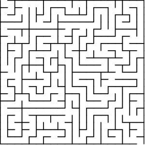 Square shaped maze puzzle