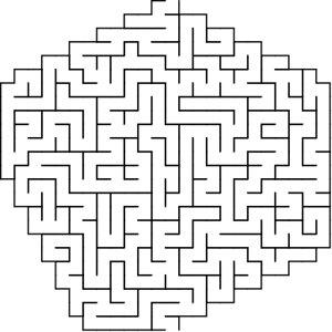 Stone shaped maze puzzle