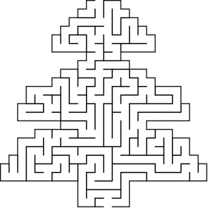 Tree shaped maze puzzle