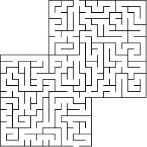 Two Boxes shaped maze puzzle