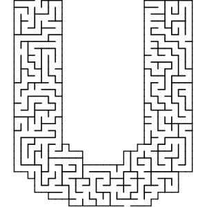 U shaped maze puzzle