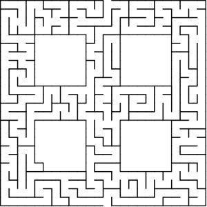 Window shaped maze puzzle