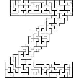 Z shaped maze puzzle